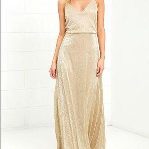 Lulus Gold Dress